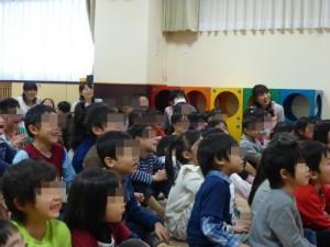 子どもたちの楽しそうな笑顔に包まれたホールでした。