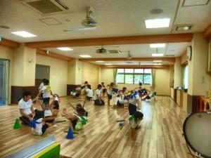 5才児の組体操。 みんな頑張って練習しています。